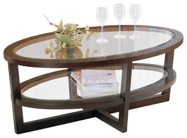 Homelegance Vista Cocktail Table In Cherry Transitional Coffee Tables By Cymax