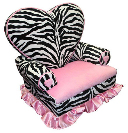 Zebra Heart Chair eclectic kids chairs