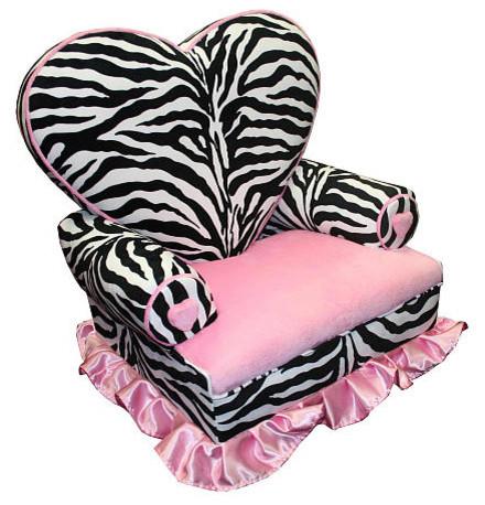 Zebra Heart Chair eclectic-kids-chairs