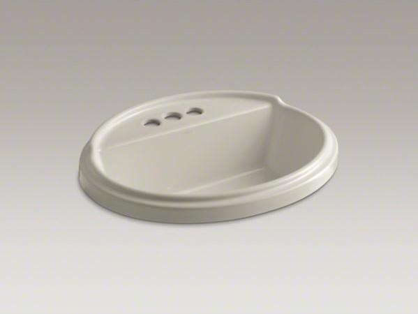 KOHLER Tresham(R) oval drop-in bathroom sink with 4