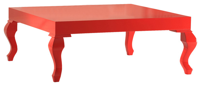 Lukens Contemporary Coffee Table Red Lacquer Width 39