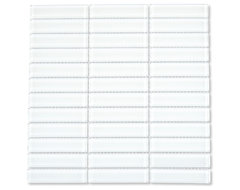 "White 1"" x 4"" Glass Subway Tile modern-tile"