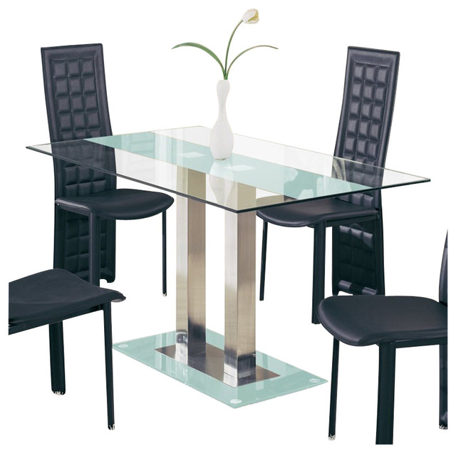 Global Furniture USA Jord Glass Dining Table In Frosted