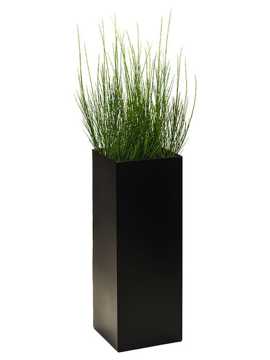Modern Planter - Modern Tower Planter - Charcoal Black, Large - Add height and dimension to any space with our Modern Tower plant containers. Available with or without drain holes.
