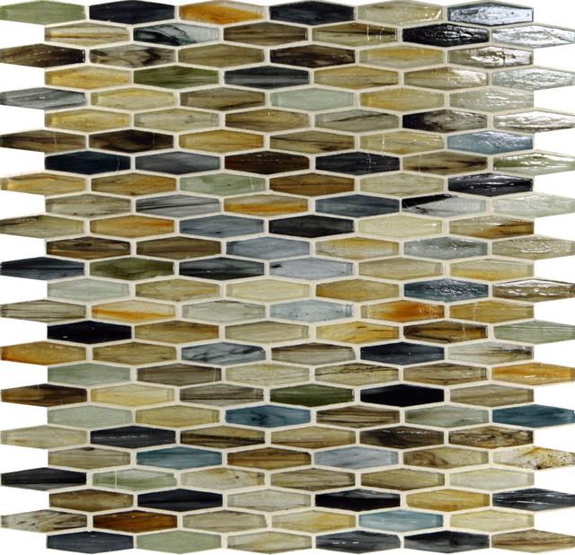 Malt Unique Shapes Cream/Beige Pool Glossy Glass modern-tile