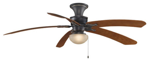 Louvre bronze accent 68 inch ceiling fan with cherry curved blades modern ceiling fans - Curved blade ceiling fan ...