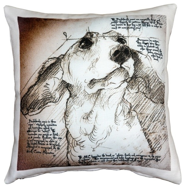 Leonardo s Dogs Dachshund Dog Pillow - Contemporary - Decorative Pillows - by Pillow Decor Ltd.