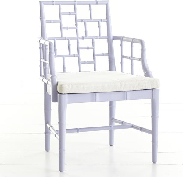 Chinese Chippendale Chair, English Lilac contemporary-living-room-chairs