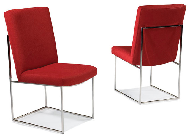 Design Classic 1187 Armless Dining Chairs by Milo Baughman from Thayer Coggin midcentury-dining-chairs