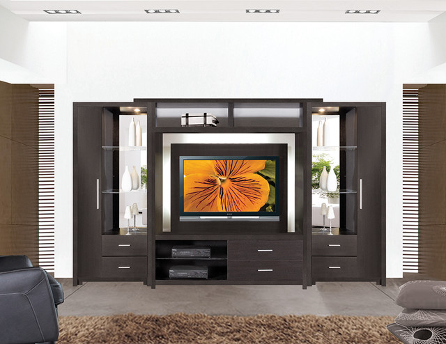 Crystal Entertainment Center Wall Unit Modern