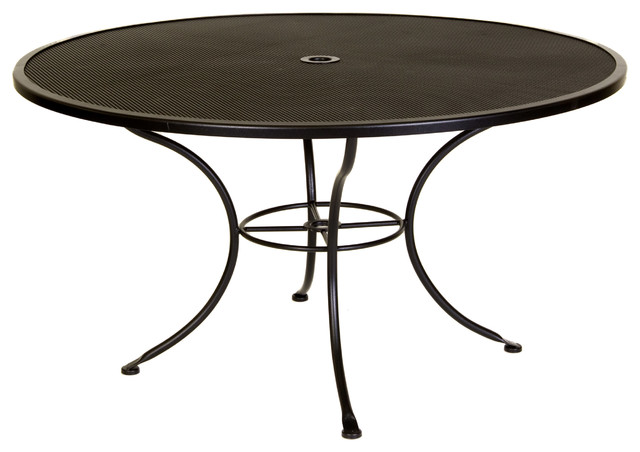 Standard Mesh 54 Round Dining Table With 2 Umbrella Hole