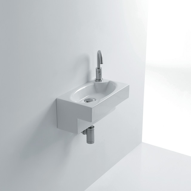 end small 17 0 ceramic wall mounted sink contemporary bathroom sinks