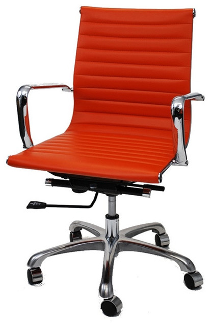 office chair mid back light brown contemporary office chairs