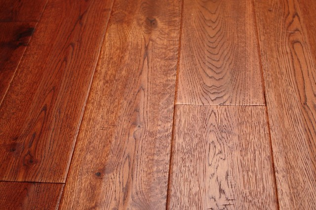 Oak Gunstock Brazil 3 4 X 5 Hand Scraped Solid Hardwood Floors