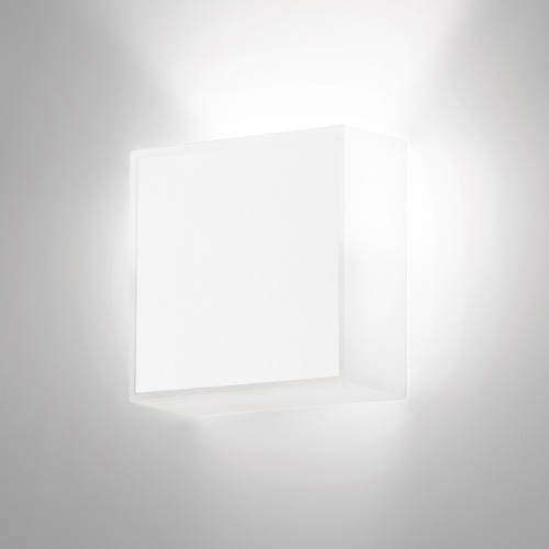 Beta Square Wall Sconce in Soft White Lacquer modern-wall-sconces