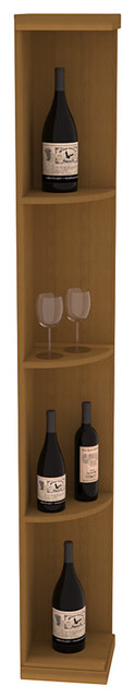 Quarter Round Wine Display in Redwood with Oak Stain contemporary-wine-racks