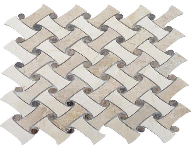 Filigree Maize Marble Tile traditional-tile