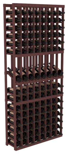 8 Column Display Row Wine Cellar Kit in Pine, Walnut Stain contemporary-wine-racks