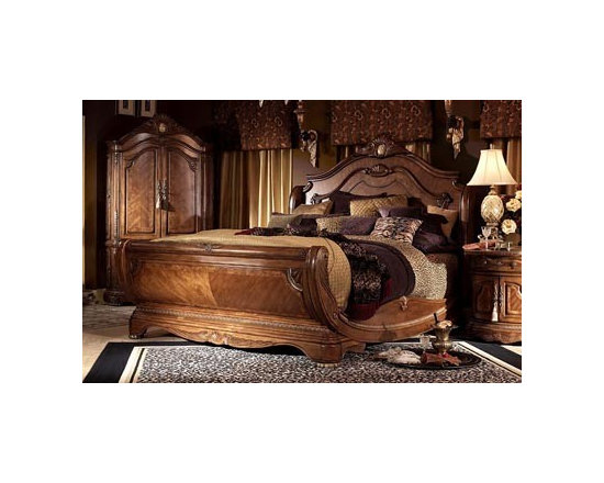AICO Furniture - Cortina King Sleigh Bed - 65018N-28-3PC - Exclusive Cortina Collection