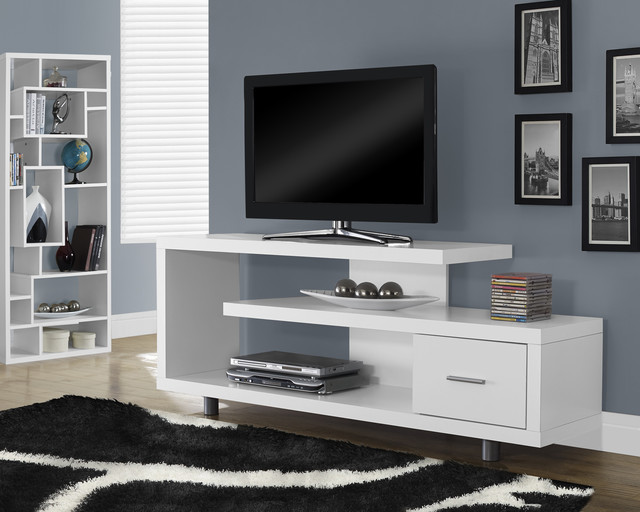 White Hollow Core 60 Inch TV Console
