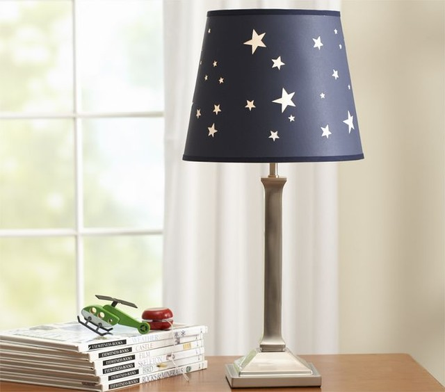 Jared Star Shade & Mason Base modern table lamps