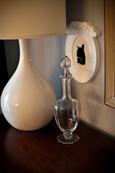 Baccarat Crystal Decanter And Silhouette Los Angeles