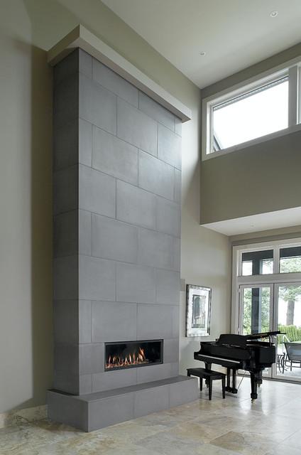 Concrete Fireplace Tiles Contemporary By Solus Decor Inc