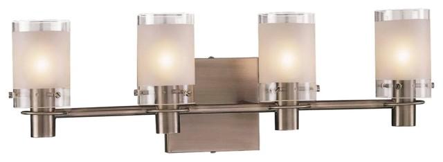 "George Kovacs Antique Nickel 22 1/2"" Wide Bathroom Light contemporary-bathroom-vanity-lighting"