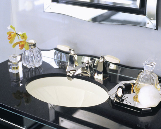 Glamour by Barbara Barry Undercounter Basin - Barbara Barry's Glamour collection embraces the grandeur of Hollywood in the 1940s in a classic collection for the modern bath. It honors an era when beautiful things served as a brilliant backdrop for a lifestyle of elegance, simplicity and luxury.