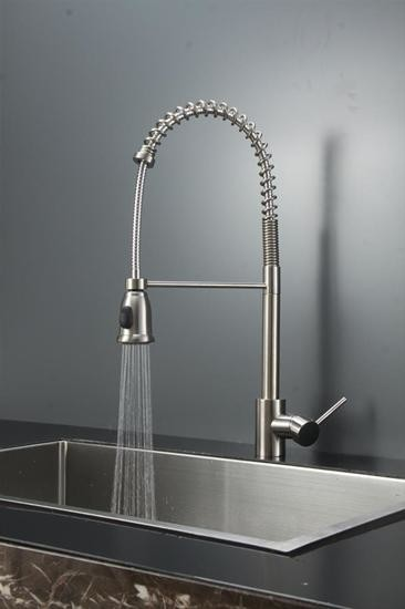 ruvati rvf1215st commercial style pullout spray kitchen kraus crespo single lever commercial style kitchen faucet