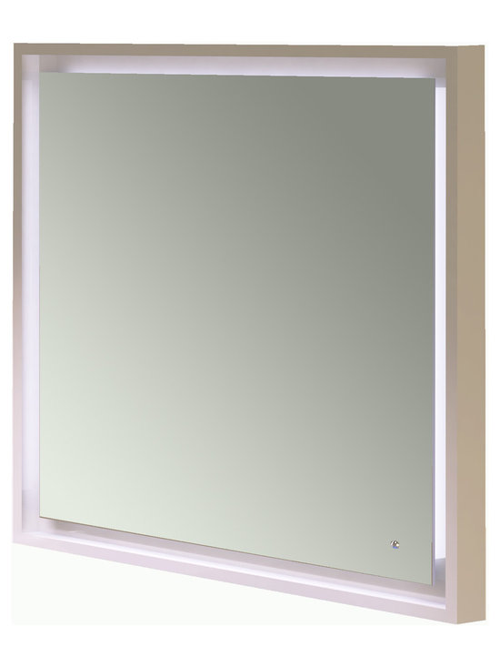 "Napoli 31"" 1/2 LED touch lighting mirror. Pearl Grey gloss. -"