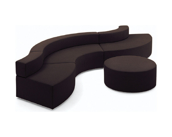 LOOSE FURNITURES - CUSTOMIZED UPHOLSTERED CURVED SOFA