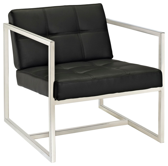 Hover Lounge Chair In Black Modern Armchairs Accent Chairs By LexMod