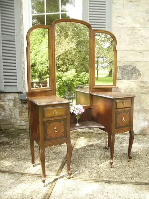 Antique Romantic Vanity with Dressing Mirror - Traditional - Makeup Mirrors - toronto - by My ...