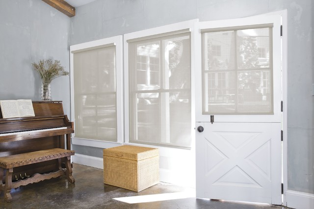 smith and noble solar roller shades farmhouse window treatments los angeles by smith noble. Black Bedroom Furniture Sets. Home Design Ideas