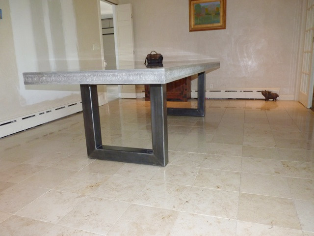 Concrete Table Modern Dining Tables Other Metro By Jm Lifestyles