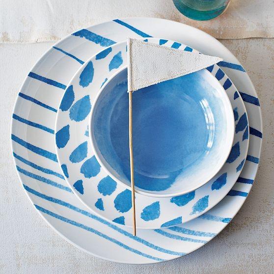 David Stark Brushstroke Dinnerware modern-plates