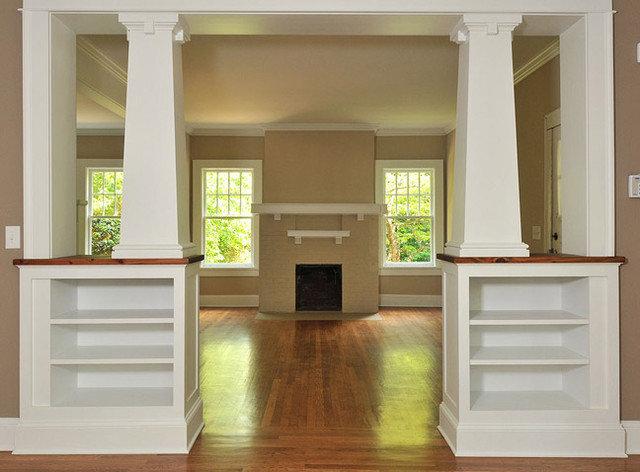 Built In Room Divider Craftsman By Innovative Construction Inc