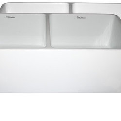 undermount sinks kitchen whitehaus whitehaus whflpln3318 white reversible sink 3031