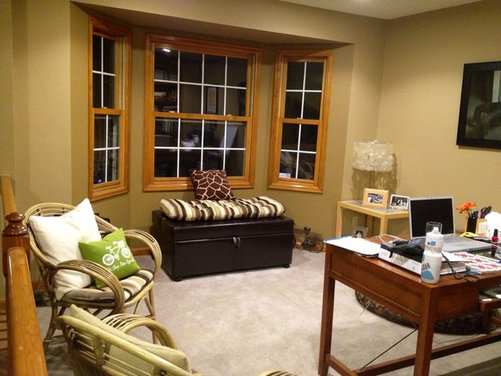 Room That Started Out With Beautiful Custom Oak Trim If ...