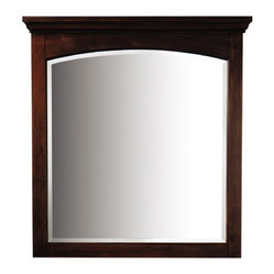 mahogany bathroom mirror home decorators collection kenwood 36 quot mirror with a 13569