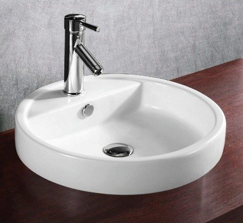 shallow modern circular self ceramic sink modern 14388