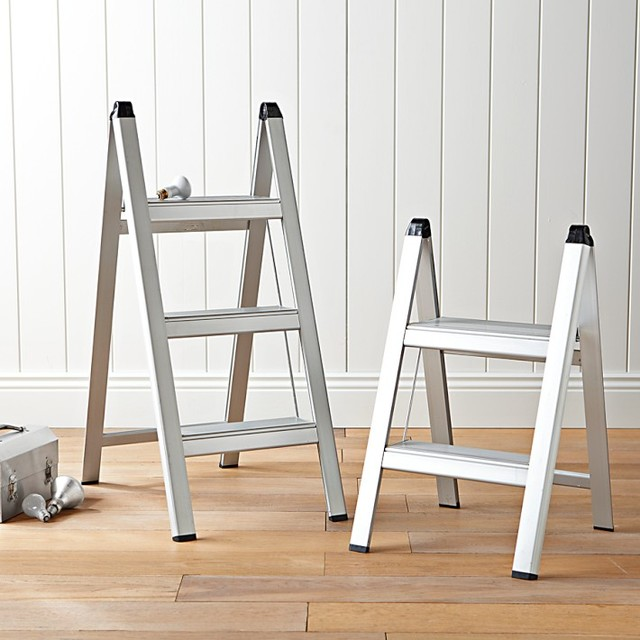 designer kitchen step ladder ultraslim aluminum step stool contemporary ladders and 205