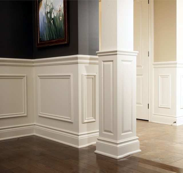 wainscoting ideas for bathrooms pictures - Chair Rail Applique Columns Traditional ottawa by
