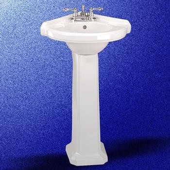 corner pedestal bathroom sink portsmouth corner pedestal sinks traditional bathroom 17951