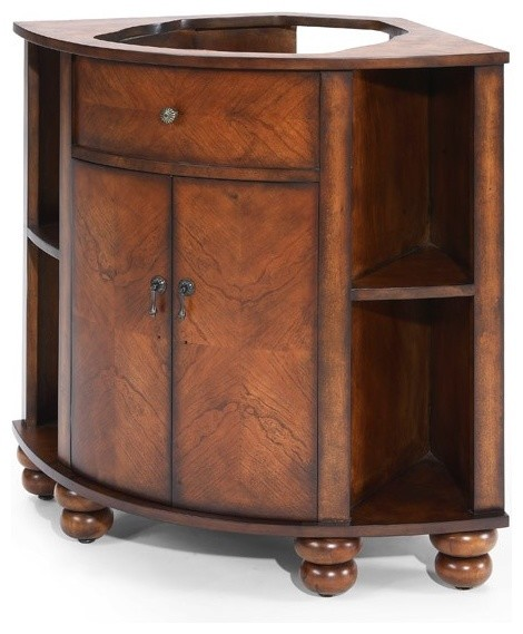 floor cabinets for kitchen xylem vc carlton 20bn carlton 20 quot corner vanity in antique 15513