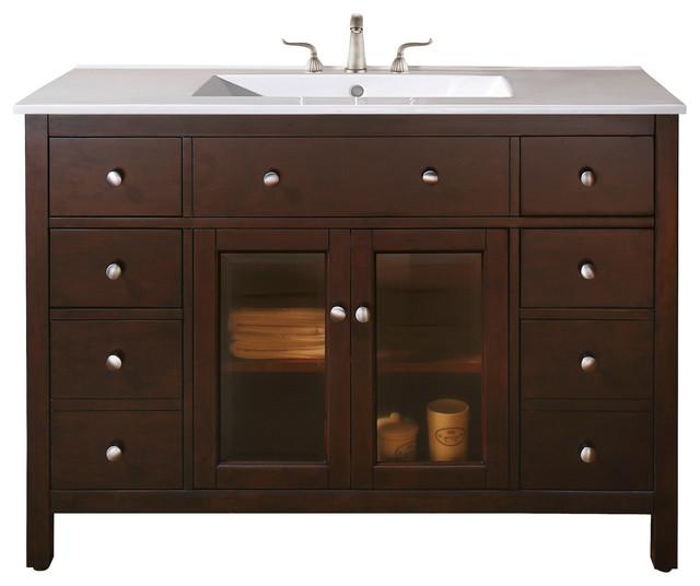Lexington 48 in. Vanity Combo - Contemporary - Bathroom ...