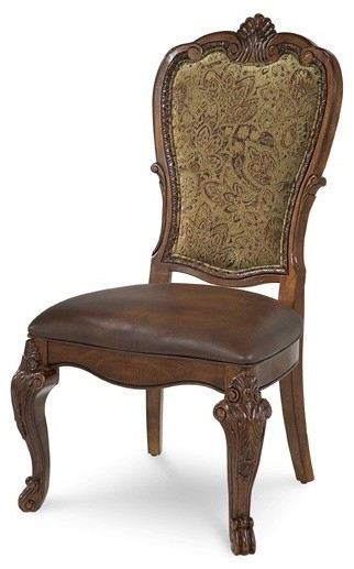 traditional accent chairs living room a r t furniture world upholstered back side chair 23291