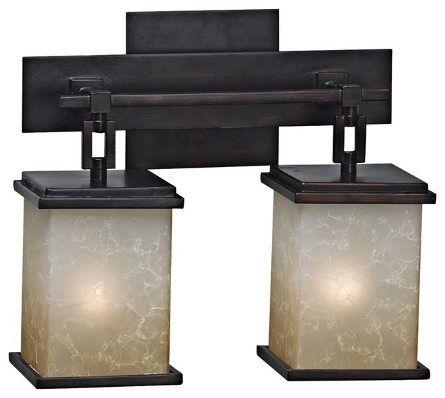 arts and crafts bathroom lighting corteo collection two light bath light fixture modern 21932