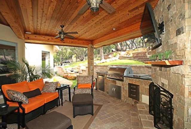 Outdoor Living - Contemporary - Patio - austin - by Texas ... on Houzz Backyard Patios id=63033